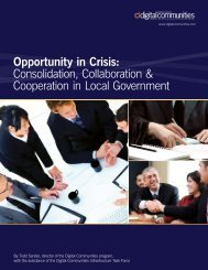Opportunity in Crisis: Consolidation, Collaboration ... - eCityGov.net