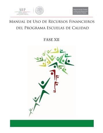 Manual de uso de recursos financieros del PEC fase ... - Sepdf.gob.mx