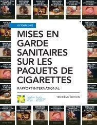 Mises en garde sanitaires sur les paquets de cigarettes : Rapport ...