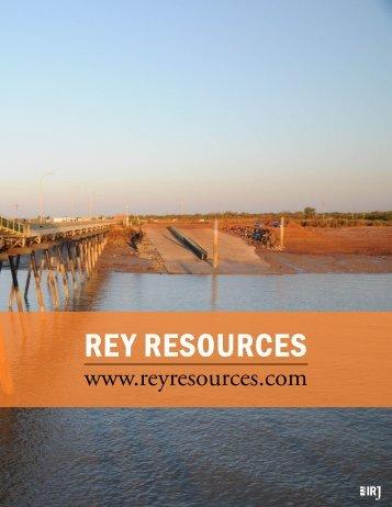 Rey ResouRces - The International Resource Journal