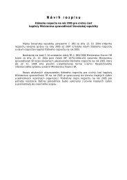 Návrh rozpočtu ministerstva na rok 2005 - Ministerstvo ...