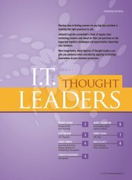 thouGht leadeRs - Inbound Logistics