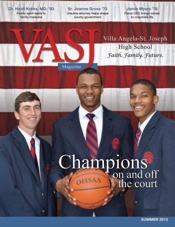 Summer 2013 - Villa Angela-St. Joseph High School