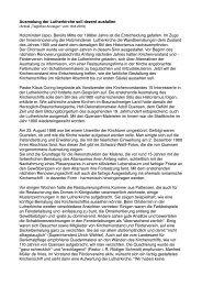 Bericht des Täglichen anzeigers - Ev.-luth. Kirchengemeinde ...