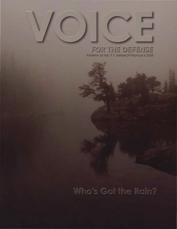 Who's Got the Rain? - Voice For The Defense Online