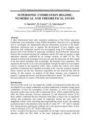 supersonic combustion regime: numerical and theoretical study