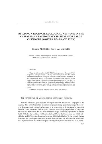 building a regional ecological network in the ... - EdituraSilvica.ro