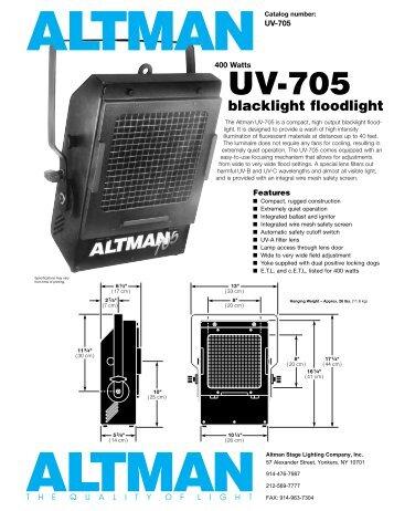 UV-705 - Schell Scenic Studio, Inc.