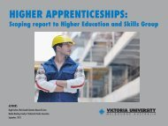 HIGHER APPRENTICESHIPS: - Department of Education and Early ...