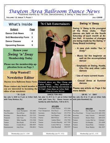 12 07July2008Newsletter - Ballroom Dance Dayton