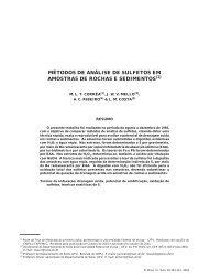 métodos de análise de sulfetos em amostras de rochas e ... - UFV