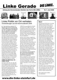 Linke Gerade - DIE LINKE. Kreisverband Steinfurt