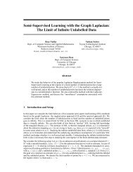 Semi-Supervised Learning with the Graph Laplacian: The ... - NIPS