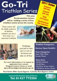 Pembs leisure Triathalon Flyer A5:Layout 1.qxd - Pembrokeshire ...
