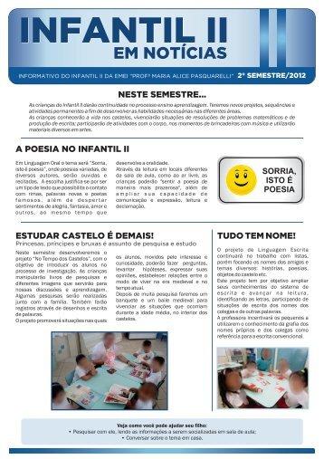Infantil II - 2 semestre - de... - Nova Escola
