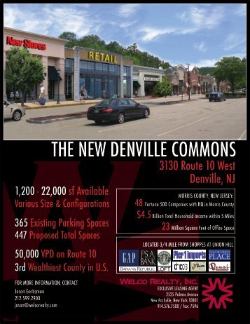 THE NEW DENVILLE COMMONS - Welco Realty, Inc