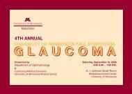 Glaucoma Brochure - University of Minnesota Continuing Medical ...