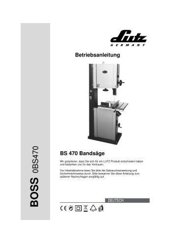 BS 470 Bandsäge - LUTZ MASCHINEN