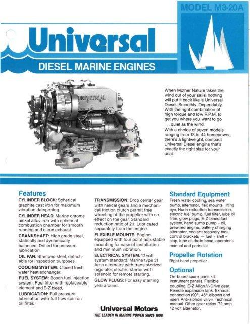 Universal Motors - Westerbeke