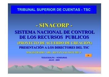 SINACORP - Tribunal Superior de Cuentas