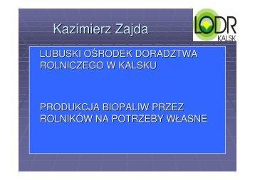 Kazimierz Zajda - baltic biomass network