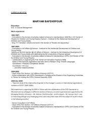 MARYAM BAFEKRPOUR - cifej