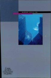 Rapport annuel 1992 - Caisse de dépôt et placement du Québec