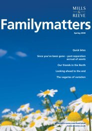 Family Matters - Spring 2008 - Mills & Reeve