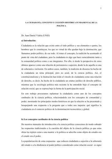 1 Dr. Juan Daniel Videla - Sociedad Argentina de Análisis Político ...