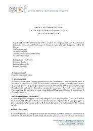Verbale del 15 dicembre 2008 (pdf) - Scuola di Dottorato in Ingegneria