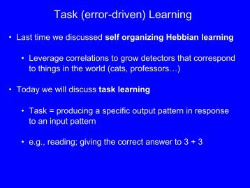Task (error-driven) Learning