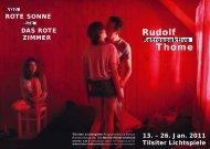 Retrospektive Rudolf Thome - Tilsiter Lichtspiele