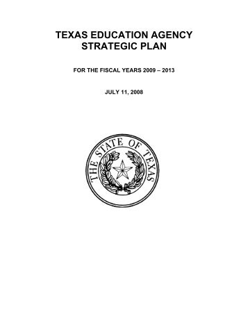 Strategic Plan - TEA - Home School Information - Texas Education ...