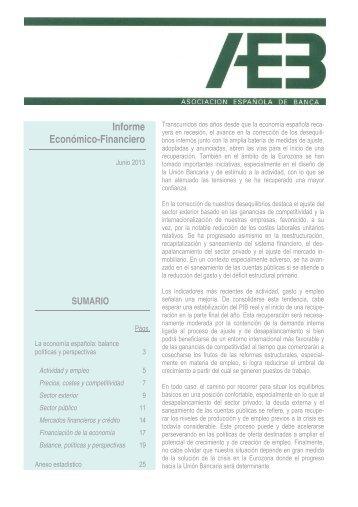 Informe Económico Financiero. Junio 2013 - Asociación Española ...