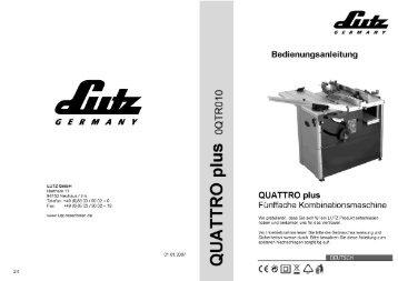 GERMANY - LUTZ MASCHINEN