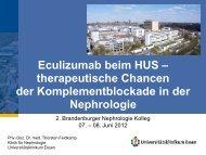 Eculizumab beim HUS – therapeutische Chancen der ... - Blnp.de