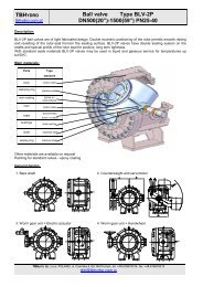 "TBH Ball valve Type BLV-2P DN500(20"")-1500(59"") PN25-40"