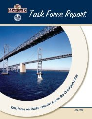 Task Force Report - Maryland Transportation Authority