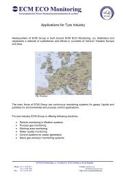 Applications for Tyre Industry - ECM ECO Monitoring