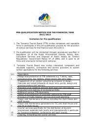 1 PRE-QUALIFICATION NOTICE FOR THE FINANCIAL YEAR 2012 ...