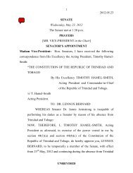 Unrevised House Hansard - Wednesday May 23, 2012 ... - Parliament