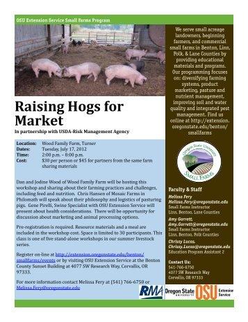 Raising Hogs for Market - Oregon Small Farms - Oregon State ...