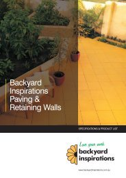 Paving & Walling Specification - Backyard Inspirations