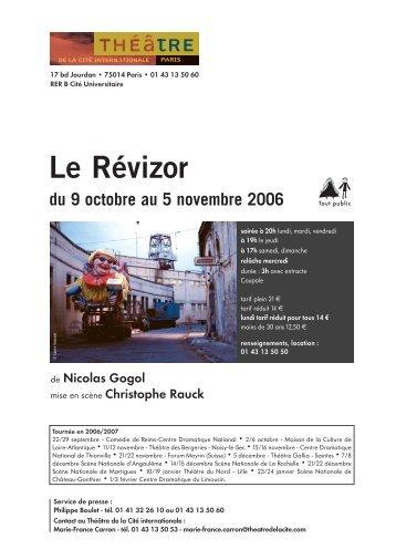 Le Révizor - Théâtre de la Cité Internationale