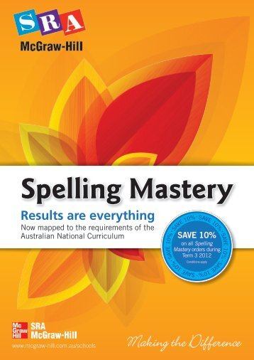 Spelling Mastery - McGraw-Hill Education Australia & New Zealand