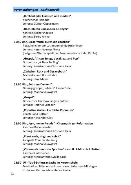 Am 28. September in der St. Michaeliskirche Holzminden