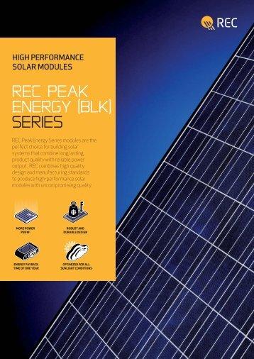 rec PEAK ENERGY (BLK) SERIES