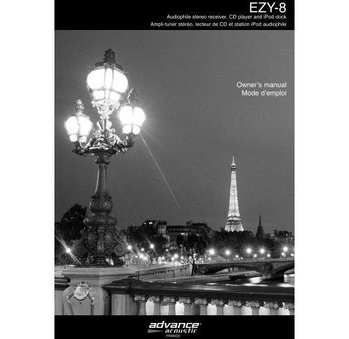 Original owner's manual EZY-8 v.2FR:Owner's manual MAP ... - Ljudia