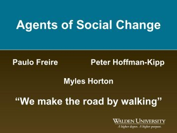 Agents of Social Change - My Laureate