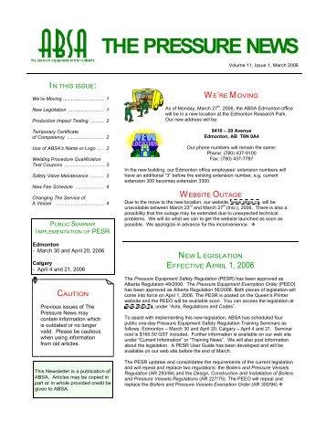 Volume 11, Issue 1, March 2006 - ABSA